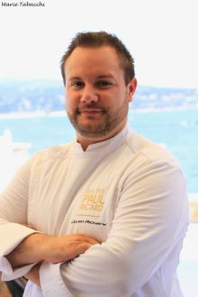 Julien Richard, chef des restaurants de l'île de Bendor
