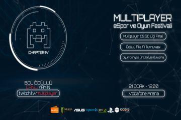 Multiplayer E-spor ve Oyun Festivali Chapter 4 Vodafone Arena'da!