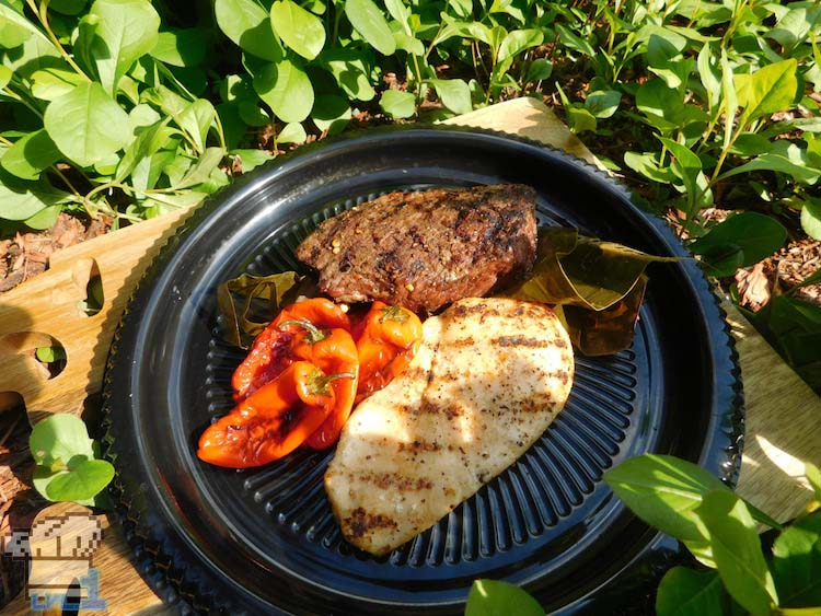 Spicy pepper steak with chicken and peppers from the Legend of Zelda Breath of the Wild game series.