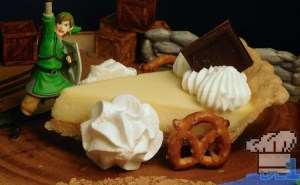 Finished recipe of the freight car cheesecake from the dessert train in the Legend of Zelda Spirit Tracks game series.