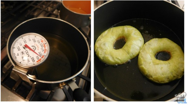 heating up the oil to fry the asparagus donuts from the princess tomato in the salad kingdom video game
