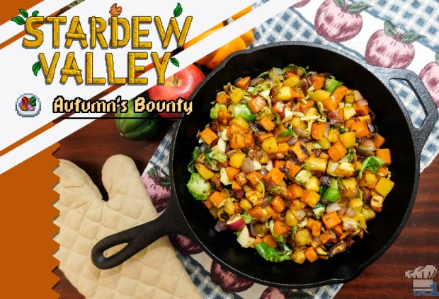 Completed recipe of the Autumn's Bounty dish from the Stardew Valley video game