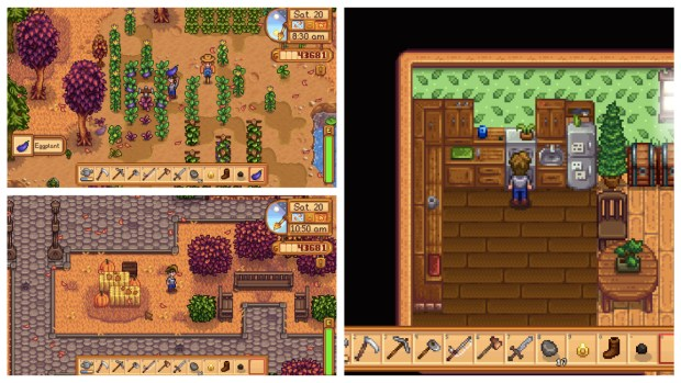 Screenshots from the Stardew Valley video game