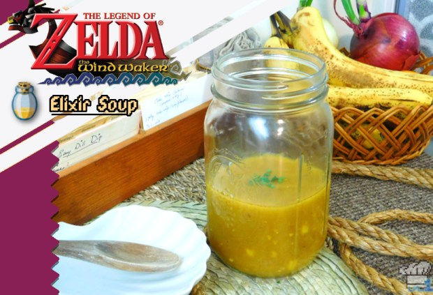 the finished elixer soup recipe from the legend of zelda the wind waker video game