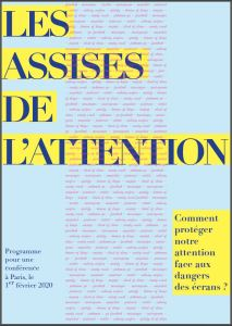 Couverture du programme des Assises de l'attention 2020