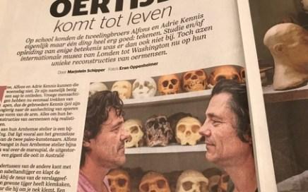 foto van de gebroeders Kennis in VRIJ van De Telegraaf