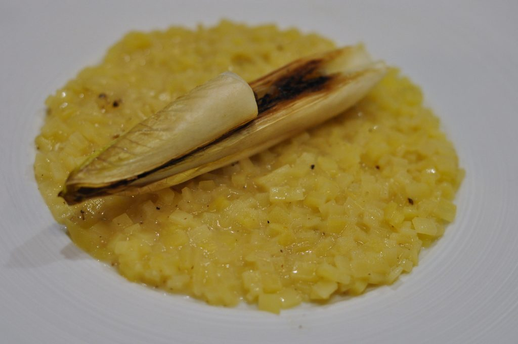 risotto de patate, chicon