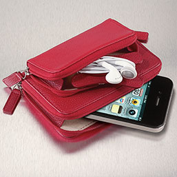 Pocquettes iPod / Earbud Case  - Leather Electronics Case