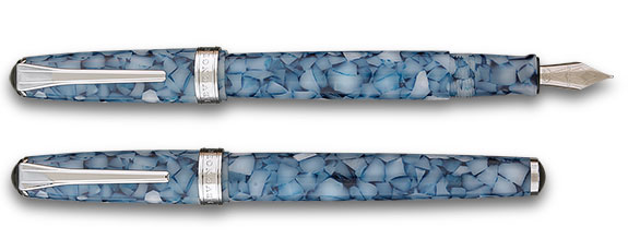 Levenger True Writer® Blue Delft Fountain Pen