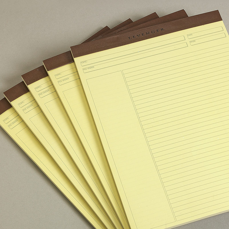 Freeleaf Yellow Annotation Ruled Pads Letter Paper