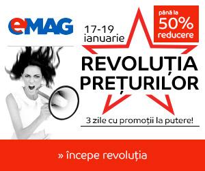 Revolutia Preturilor – 17-19 ianuarie la eMAG.ro