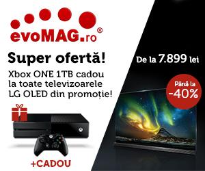 Super Oferta: Xbox ONE CADOU la televizoarele LG din oferta!