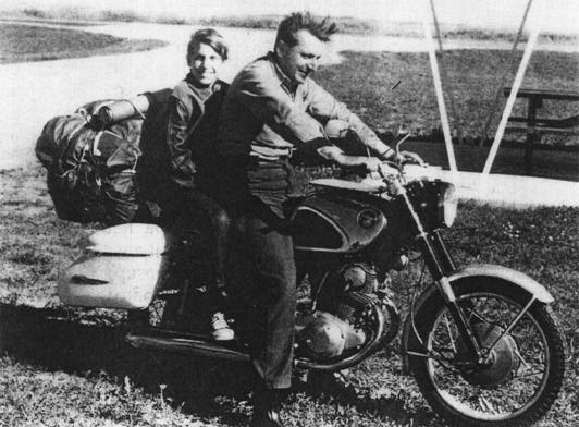 Robert Pirsig on a Motorcycle