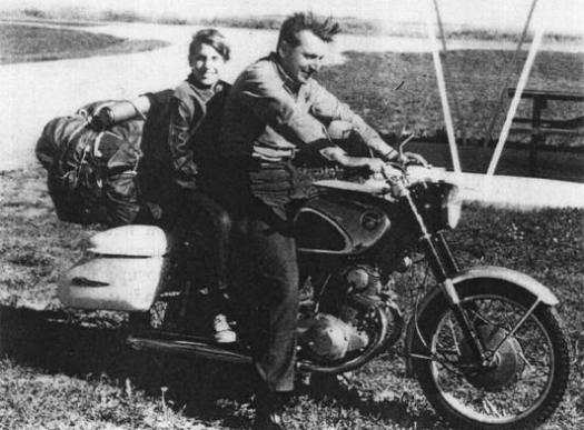 Robert Pirsig on a Motorcycle
