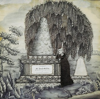 Needlework and Ink Memorial to Mr. Joseph Snelling