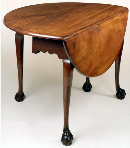 Chippendale Ball And Claw Foot Drop Leaf Table With Round Leaves