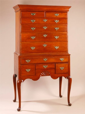 THE CURTIS AND BEACH FAMILY QUEEN ANNE HIGHBOY