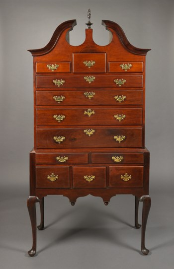 THE DALL FAMILY QUEEN ANNE BONNET TOP HIGHBOY Massachusetts