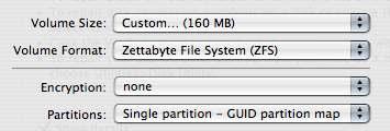 Inizializzazione disco ZFS