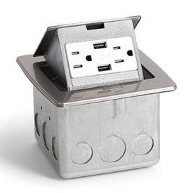 Lew Electric Pufp Ct Ss Kitchen Countertop Pop Up A Power Outlets