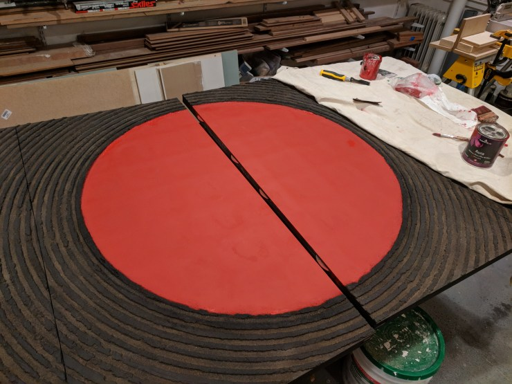 Circle painted red