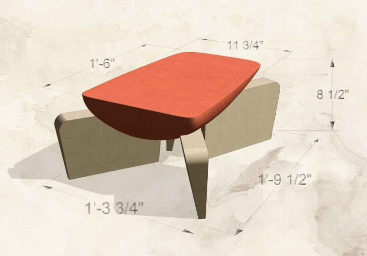 Corb table (2002) preliminary rendering