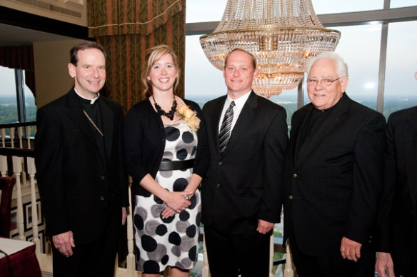 Bishop Michael Burbidge, Donna and Allan Frazelle, Monsignor Lewis