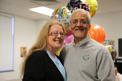 2016-2017 Lewis Award Recipient Mark DeLaRosa & wife, Carol, Cardinal Gibbons High School