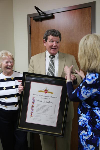 Dr. Michael J. Fedewa, Monsignor Gerald Lawrence Lewis Lifetime Achievement Award in Catholic Education Recipient