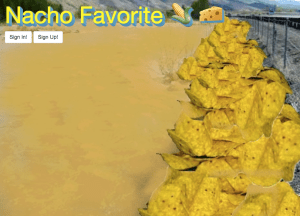 Nacho Favorite Home Page