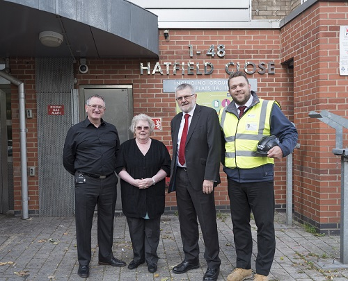 Lewisham Homes removing cladding from Hatfield Close