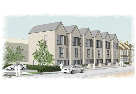 Architect's drawing of Marnock Road development