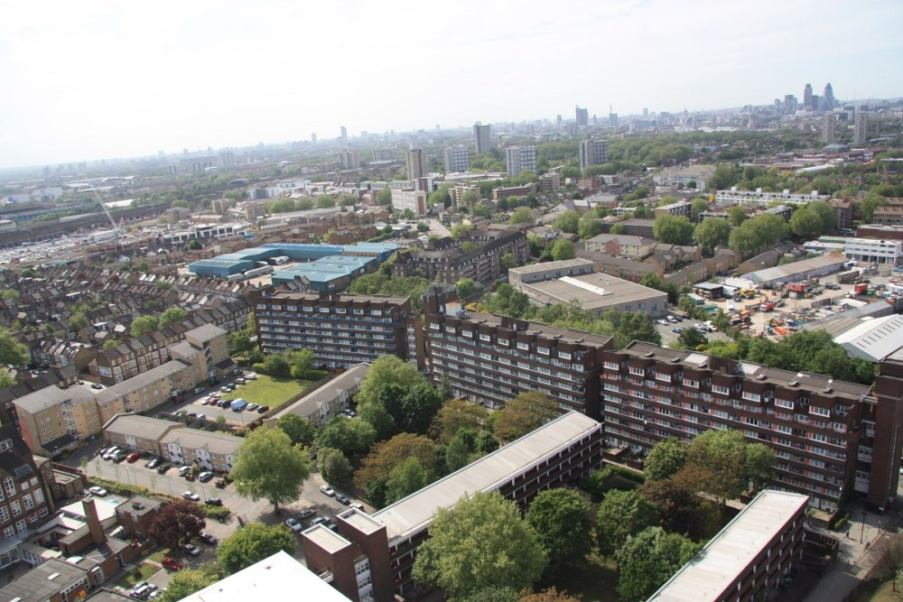 Aerial photograph of the Pepys Estate