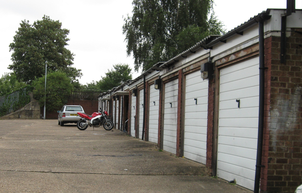 Garages on an estate