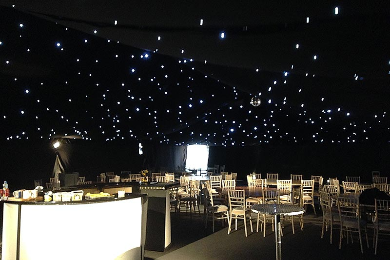 how to light your wedding marquee