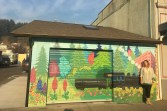 The public artwork was created to celebrate community attractions and attributes. Photo courtesy: Chehalis Community Renaissance Team.