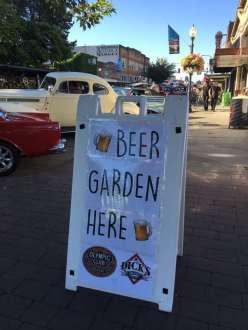 Beer Garden at Hub City Car Show