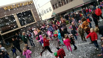 Downtown Chehalis will be a Gingerbread Village during the annual Santa Parade. All parade participants will be entered into the best theme category for a chance to win a trophy. Photo courtesy: Centralia-Chehalis Chamber of Commerce.