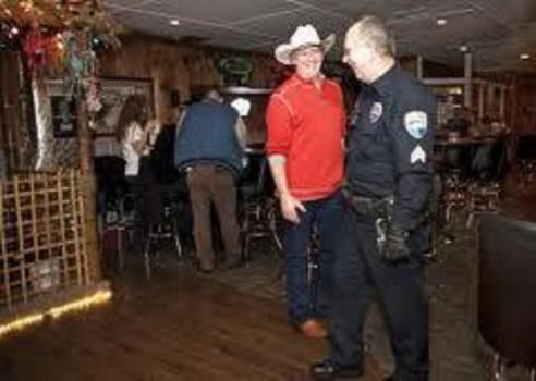 A bar check with Officer Randy Pennington. Photo courtesy: Randy Pennington.
