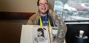 Josh poses with Sally Field's autograph page. Photo courtesy: Krysta Carper.
