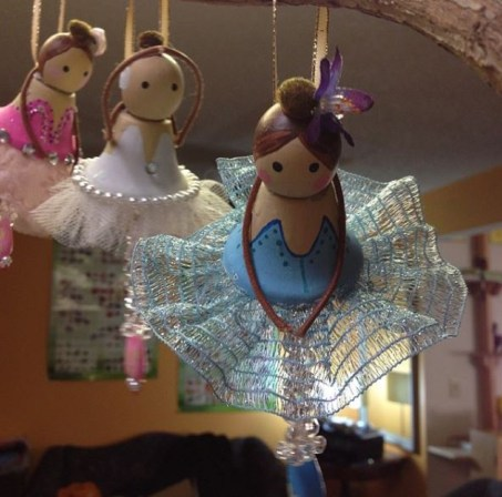 Melinda Brein makes this lovely little ballet dolls. Photo courtesy: Melinda Brein.