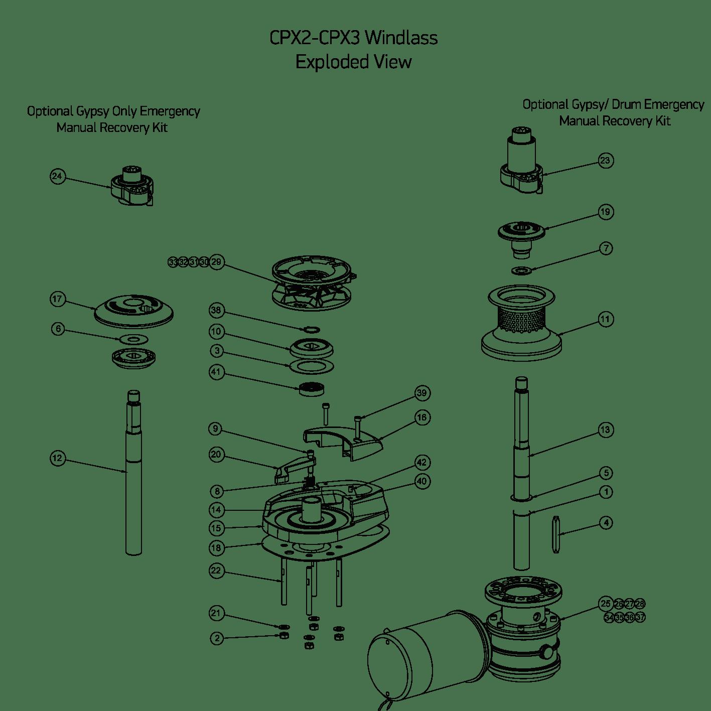 Cpx2 3 Windlass Spares