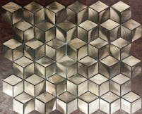 Bronze Diamond Cube Mosaic