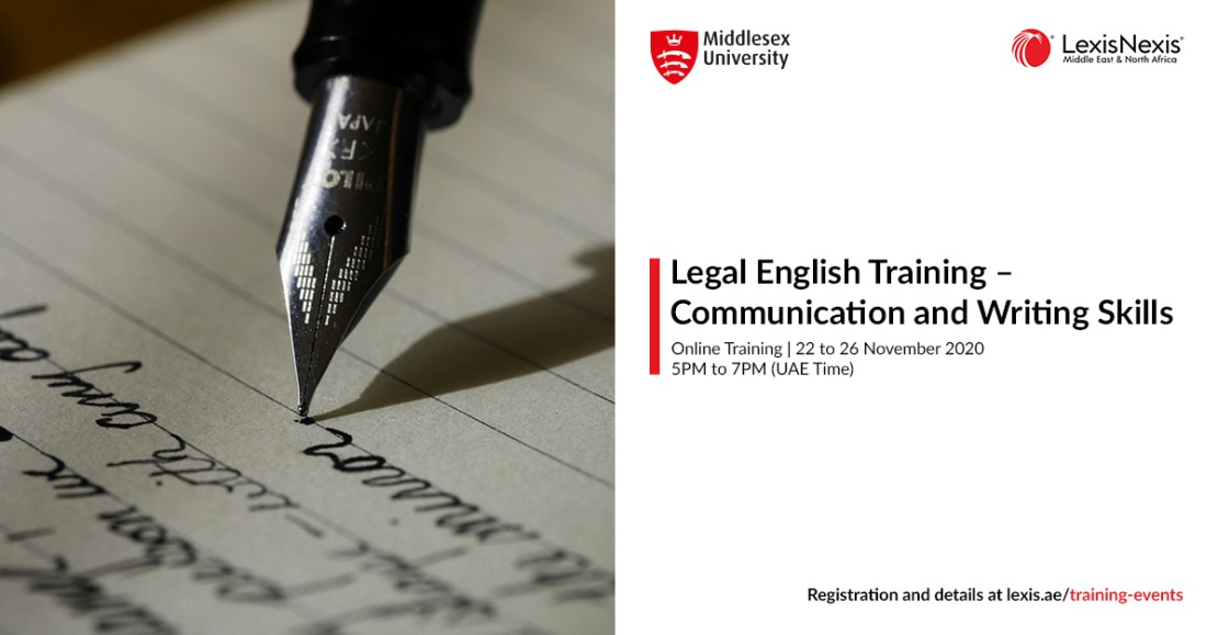 LEGAL ENGLISH COURSE: Communication and Writing Skills | Online Training | 22 to 26 November 2020
