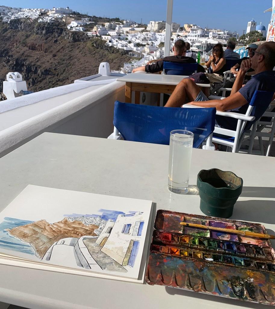 tableau peinture Grèce
