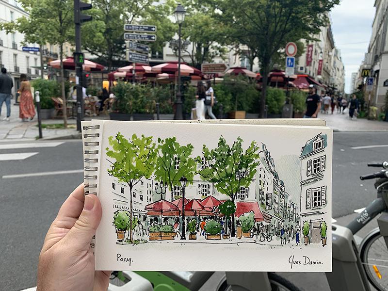 Peinture Place de Passy, Paris 16