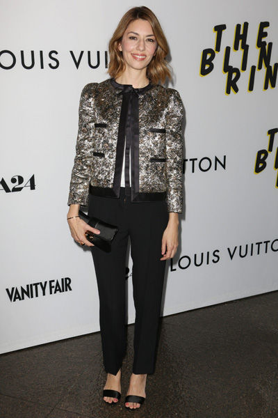 Sofia Coppola en veste brocard Louis Vuitton à l'avant-première de The Bling Ring à Los Angeles en 2013