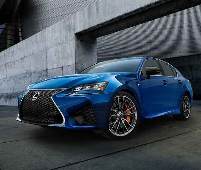 Exterior Shot Of The  Lexus Gs F Shown In Ultrasonic Blue Mica