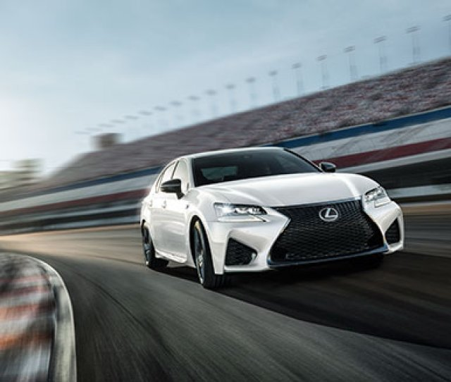 Exterior Shot Of The  Lexus Gs F Shown In Ultra White