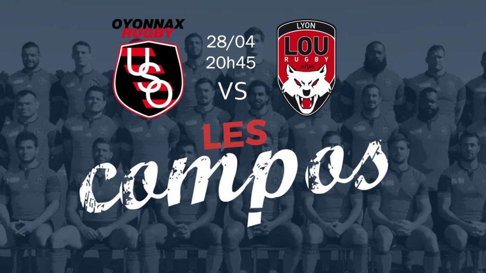 oyonnax v lyon compositions équipes rugby france top 14 xv de départ 15